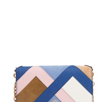 Tory Burch Robinson Colorblock Leather Wallet on a Chain | Nordstrom