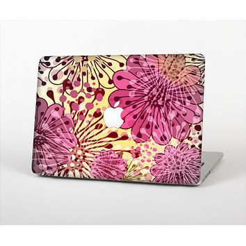 The Colorful Translucent Water-Flowers Skin Set for the Apple MacBook Pro 13""