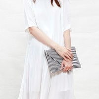 White Tiny Pleats Dress