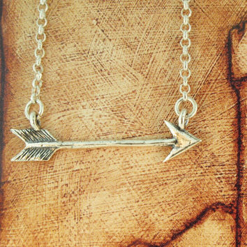 Silver Flying Arrow Charm Pendant