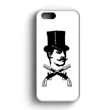 Mumford And Sons Cowboy Logo Black And White iPhone 5 Case iPhone 5s Case iPhone 5c Case