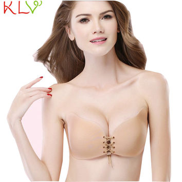KLV Good Deal 2017 Push Up Bra Women Wings Of The Goddess Instant Breast Lift Invisible Silicone Drop shipping 1pc*30