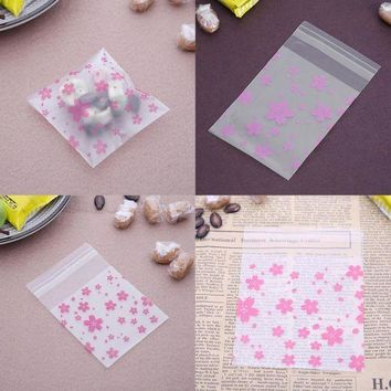 CREYN3C 100pcs Lace Candy Bags Self Adhesive Seal Plastic Cookies Candy Biscuit Packaging Gift Bags Christmas Wedding Candy Gift Bags
