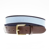 Seersucker Canvas Club Belt