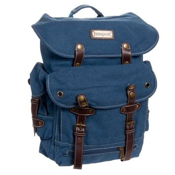 EuroSport B721 WWII Canvas Travel Backpack Bag