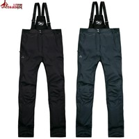 UNCO&BOROR New Winter Brand Pants Men Women`s Softshell Pants Windproof Waterproof outwear Warm casual snow trousers size M~5XL