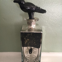 Spider's Kiss Poison Bottle Speckled Mirror Crow Death Halloween Decor