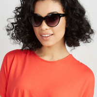 Film Noir A Classic Treat Sunglasses in Black by ModCloth