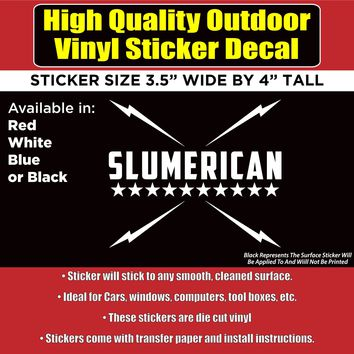 Slumerican Yelawolf Music Vinyl Car Window Laptop Bumper Sticker Decal