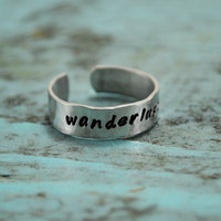 Wanderlust. A born traveler's ring