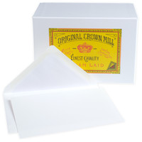 Classic Laid Note Card Presentation Box White