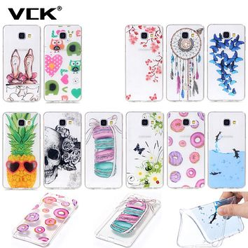 Ultra Thin For Samsung Galaxy J1 2016 J120 J120F J3 J300 Galaxy Grand Prime G530H Printing Soft Gel Slim Silicone TPU Case Cover