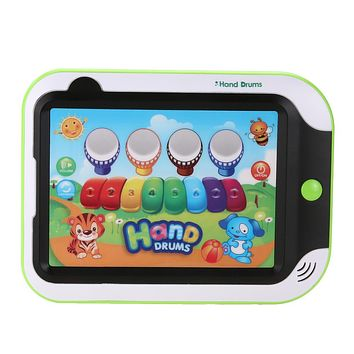 Mini Music Tablet Touch Screen Piano Drum Learning Machine Tools Child Developmental Toy for Children's Gift