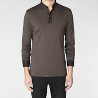 Mens Cameo Long Sleeved Polo (Trench) | ALLSAINTS.com