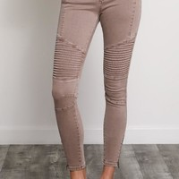 Monday Moto Jeans in Cocoa