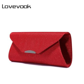 LOVEVOOK fashion women evening clutches bag female crossbody bag ladies envelope purse for party with chains handbags ladies