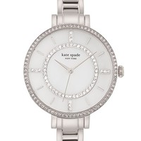 Women's kate spade new york 'gramercy' crystal bezel bracelet watch, 34mm