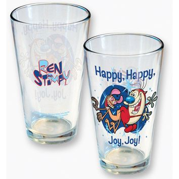 Ren & Stimpy Pint Glass
