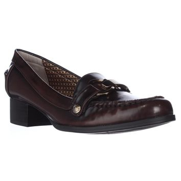 AK Anne Klein Dagney Slip-On Loafers, Dark Brown, 6 US