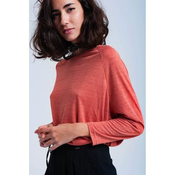 Coral oversized shirt