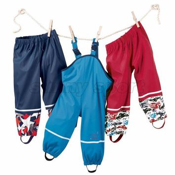 The new export Pu Tong small children girls rain pants pants poncho waterproof windproof breathable outdoor ski pants special of