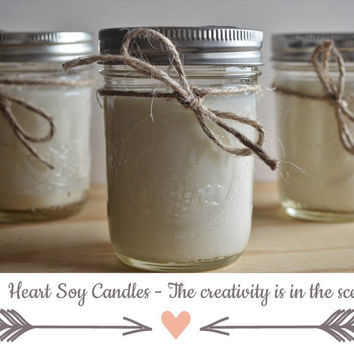 24 Pack Handmade Soy Candles, Custom wedding candle