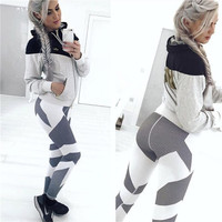 2017 New Women Casual Speckle Digital Printing Femme Sexy High Waist Slim Fit Elastic Leggings For Woman Workout