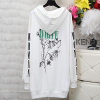 OFF-White Fashion Casual Women Men Print Pullover Long Sleeve Sweater G