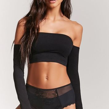 Seamless Off-the-Shoulder Crop Top