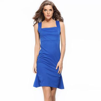 Striking Sleeveless Pencil Dress