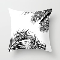 White Tropic Summer Throw Pillow by Deadly Designer