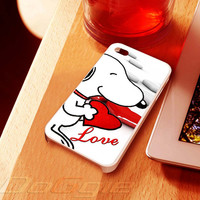 snoopy love case  - iPhone 4 Case ,iPhone 5 case,samsung galaxy S2, s3 and Samsung galaxy s4 Hard Plastic Case