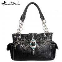 Montana West MW84-8085 Western Buckle Handbag