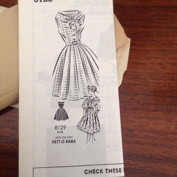 Patt-O-Rama vintage dress pattern #8129 in original mailing envelope from Betty Ann Patterns Milwaukee