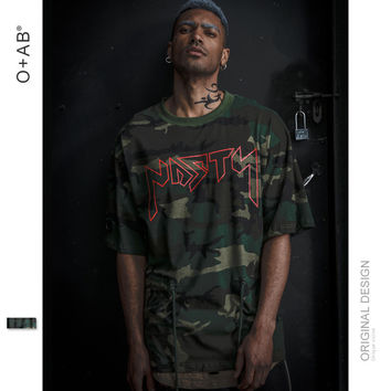 Camouflage Short Sleeve Summer Hip-hop T-shirts [10511261251]