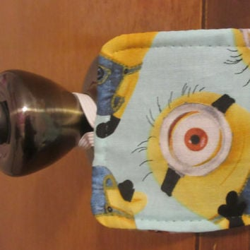 Door Latch cover / Door silencer / Door Jammer / Nursery /  Great Baby Shower Gift / Minions