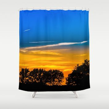 Golden Touch Shower Curtain by Gallery One