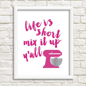 Kitchen Aid Mixer Print - Kitchen Art