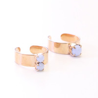 Pastel Purple Candy Jewel Rings