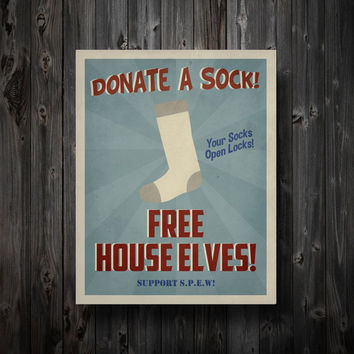SPEW Free House Elves Propaganda Poster in by EntropyTradingCo