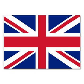 Patriotic table card with Flag of United Kingdom