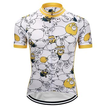 Crossrider 2018 Minions Cycling Jersey Cartoon Mtb Jerseys Mountain Bike Clothing Bicycle Clothes Short Bicycle Wear Tops Racing