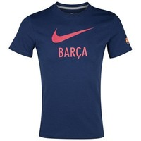 Barcelona Core Basic Type T-Shirt - Midnight Navy/Dark Grey Heather