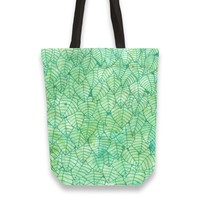 'Green foliage' Tote Bags by Savousepate on miPic