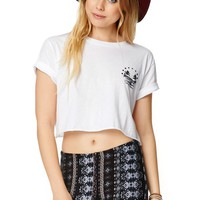 Billabong Take Me To Short Sleeve Crew T-Shirt - Womens Tee - White