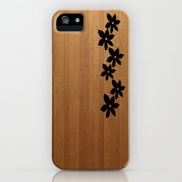 Flowers Etched on Wood iPhone Case by Ian Layne | Society6