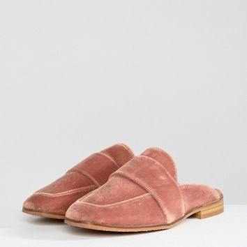 Free People At Ease Velvet Contrast Backless Loafer at asos.com