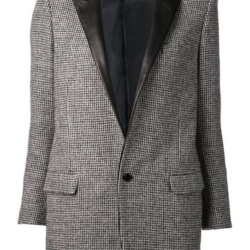 Saint Laurent leather lapel jacket
