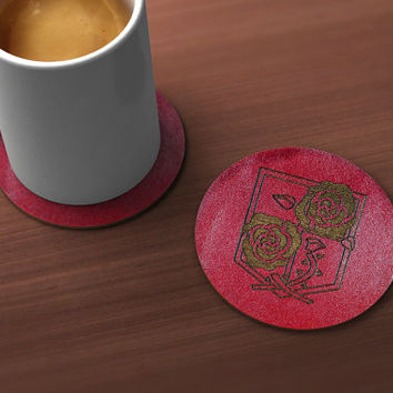 Attack on Titan Garrison Geek Drink Coaster