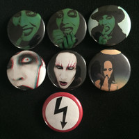 "MARILYN MANSON 1"" buttons"